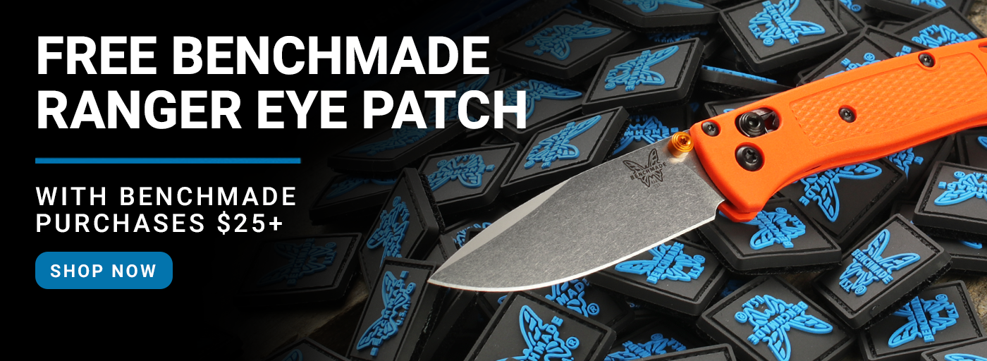 Free Benchmade Ranger Eye Patch with $25 Benchmade Purchases