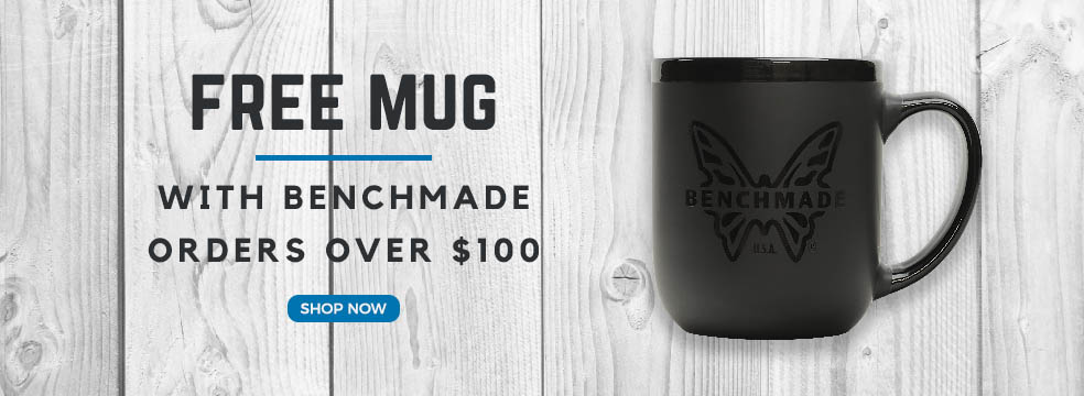 Free Benchmade Mug with Benchmade Purchases Over $100