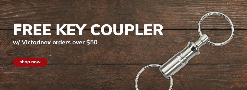 Free Victorinox Coupler with $50 Victorinox order