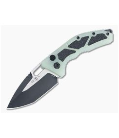 Heretic Knives Medusa Jade G10 Black Two-Tone Tanto Elmax OTS Automatic H011-10A-JADE