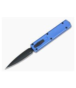 D Rocket Design Zulu Spear Blue Black DLC M390 OTF Automatic 0007