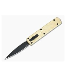 D Rocket Design Zulu Spear Aluminum Bronze DLC M390 OTF Automatic