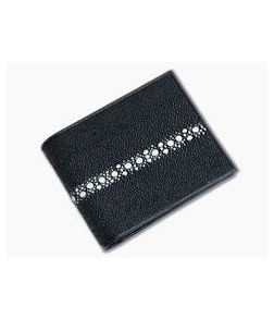 Adam Unlimited Continuous Pearl Stingray Wallet Bi-Fold