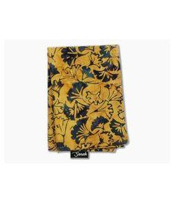 SwankHanks Gold Leaf Batik Dye Print Cotton and Microsuede Hank