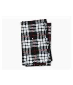 Fox Hanx Tartan Cotton Black and White Plaid Handmade Handkerchief
