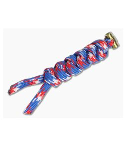 Chris Reeve Small Sebenza 21 Multicolored Knotted Lanyard Liberty/Gold