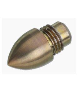 Hinderer Knives Investigator Pen Bullet End Attachment Titanium Bronze