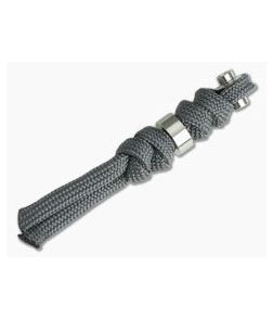 Chris Reeve Small Inkosi Charcoal Lanyard with Silver Bead