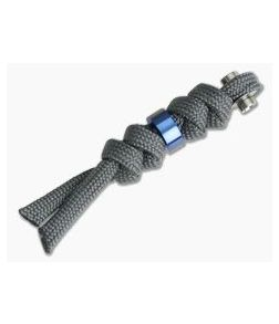 Chris Reeve Small Inkosi Charcoal Lanyard with Blue Bead