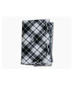 Fox Hanx Venture Cotton Flannel Black and Gray Plaid Handmade Handkerchief