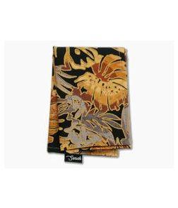SwankHanks Pineapple Batik Outline Dye Print Cotton and Microsuede Hank