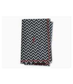 Fox Hanx Phalanx Cotton Black and White Chevron Handmade Handkerchief