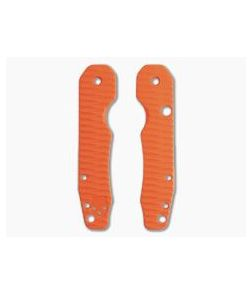 Putman Blade Scales Spyderco Smock Grooved Orange G10 Scales