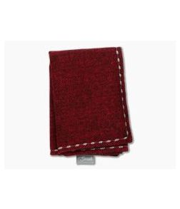 SwankHanks Red Chevron Cotton Flannel and Microsuede Hank