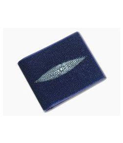 Adam Unlimited Blue Stingray Bi-Fold Wallet