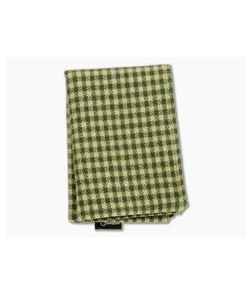 SwankHanks Green Check Cotton Flannel and Microsuede Hank
