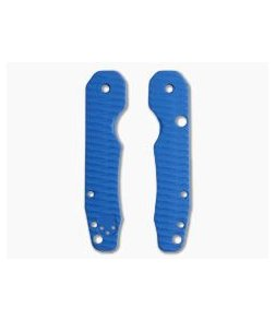 Putman Blade Scales Spyderco Smock Grooved Blue G10 Scales