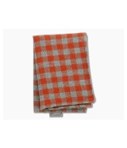 SwankHanks Orange Check Fall Flannel and Microsuede Hank