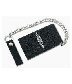 Adam Unlimited Stingray Tri-Fold Chain Wallet