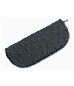 Adam Unlimited Ostrich Zipper Pouch Large