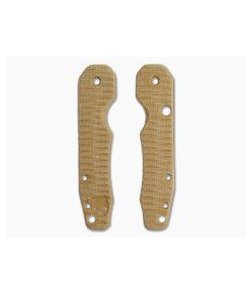 Putman Blade Scales Spyderco Smock Grooved Natural Micarta Scales