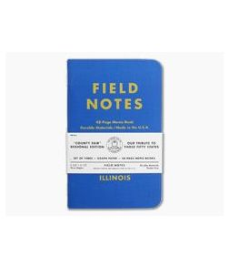 Field Notes County Fair Regional Editions Illinois 48-Page Notebook 3 Pack