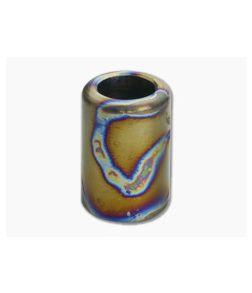 Ti Survival Titanium Lanyard Bead Grooveless Polished Random Flame Ano