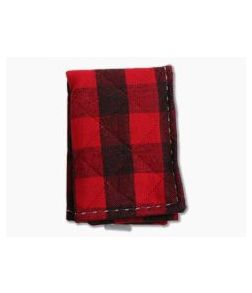 SwankHanks Red Quilted Plaid Flannel and Microsuede Hank
