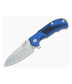 """Hinderer Knives MP-1 Blue-Black G10 3.25"""" Stonewashed Flipper"""