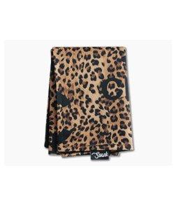 SwankHanks Chanel Leopard Print Nylon and Microsuede Hank