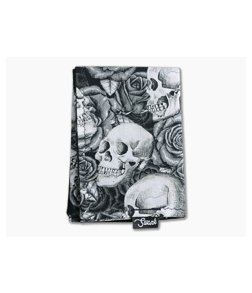 SwankHanks Skulls and Roses Cotton and Microsuede Hank