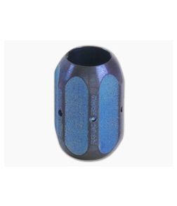 Ti Survival Titanium Lanyard Bead Hex Blue Anodized