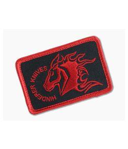 Hinderer Knives Velcro Morale Patch Black & Red