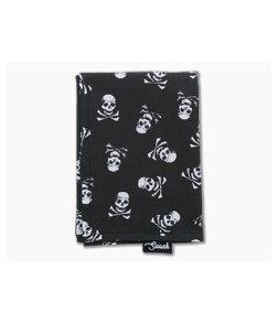 SwankHanks Skull and Crossbones Cotton Black Microfiber Hank