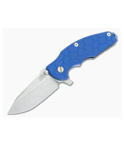 """Hinderer Knives Jurassic 3.25"""" Blue G10 SpearPoint Blue Ano"""