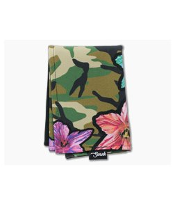 SwankHanks Camo Lily Lycra and Black Microsuede Hank