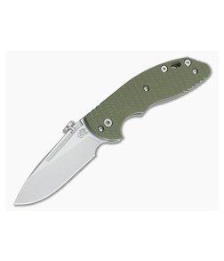 Hinderer Knives XM Slippy Stonewash 20CV Slicer OD Green G10