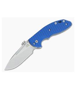 Hinderer Knives XM Slippy Stonewash 20CV Slicer Blue G10