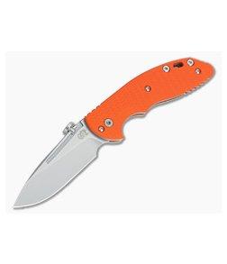 Hinderer Knives XM Slippy Stonewash 20CV Slicer Orange G10