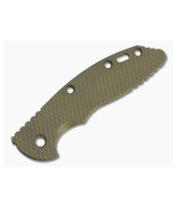 """Hinderer Knives Battle Bronze Textured Titanium XM-18 3.5"""" Handle Scale"""