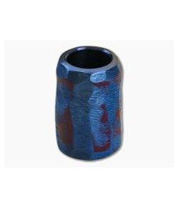 Ti Survival Titanium Lanyard Bead Textured Blue/Purple Anodized