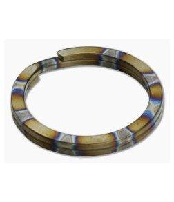 Ti Survival Titanium Split Ring 32mm Flamed Rings