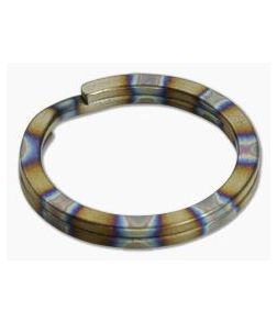 Ti Survival Titanium Split Ring 25mm Flamed Rings