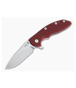"""Hinderer Knives XM-18 3.5"""" Slicer Red G10 20CV Stonewashed Tri-Way Flipper"""