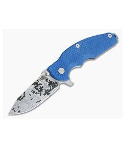 Hinderer Knives Jurassic Digital Camo Stonewashed Blue S35VN Spear Point Blue G10 Tri-Way Pivot Flipper 0853