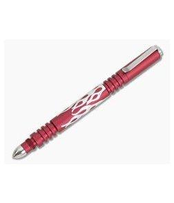 Hinderer Knives Investigator Pen Flames Matte Red Aluminum 0865
