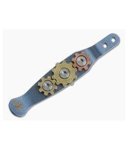 Hinderer Gear Clip Blue Titanium Pocket Clip 0918