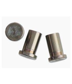 "Hinderer Knives XM-18 3.5"" Skinny Handle Nuts Stonewashed Bronze Horse Head 3 Set 0921"