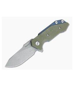 Hinderer Knives Half Track Slicer 20CV Battle Blue OD Green G10 Tri-Way Flipper