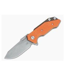 Hinderer Knives Half Track Slicer 20CV Battle Bronze Orange G10 Tri-Way Flipper